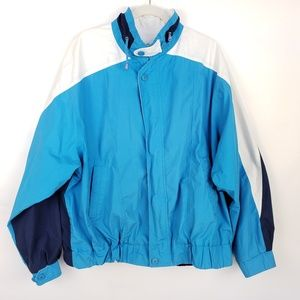Vintage 80s London Fog Mens XL Pieced Zip Jacket